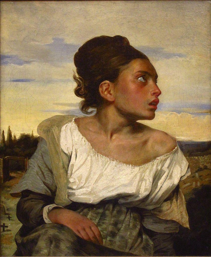 841px-Eugène_Delacroix_-_Jeune_orpheline_au_cimetière_(vers_1824)