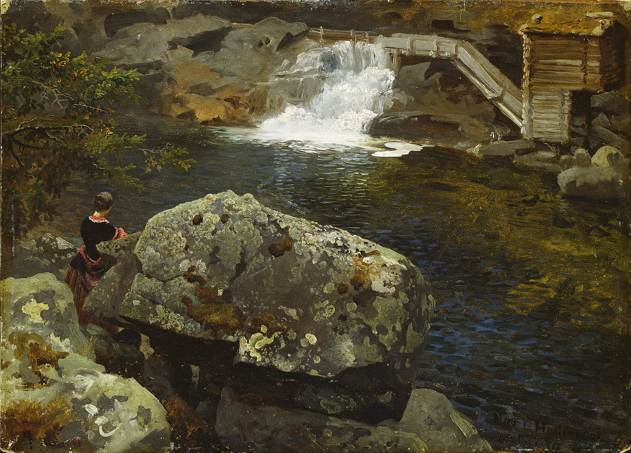 Hans_Gude_-_By_the_Mill_Pond_-_Google_Art_Project