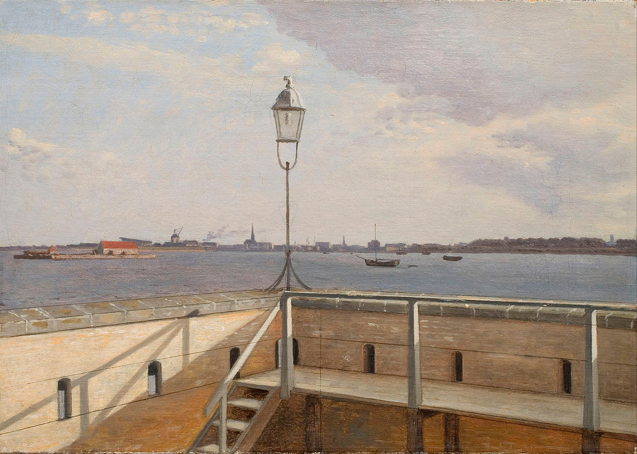 Christoffer_Wilhelm_Eckersberg_-_View_from_the_Trekroner_Battery_with_Copenhagen_in_the_distance_-_Google_Art_Project