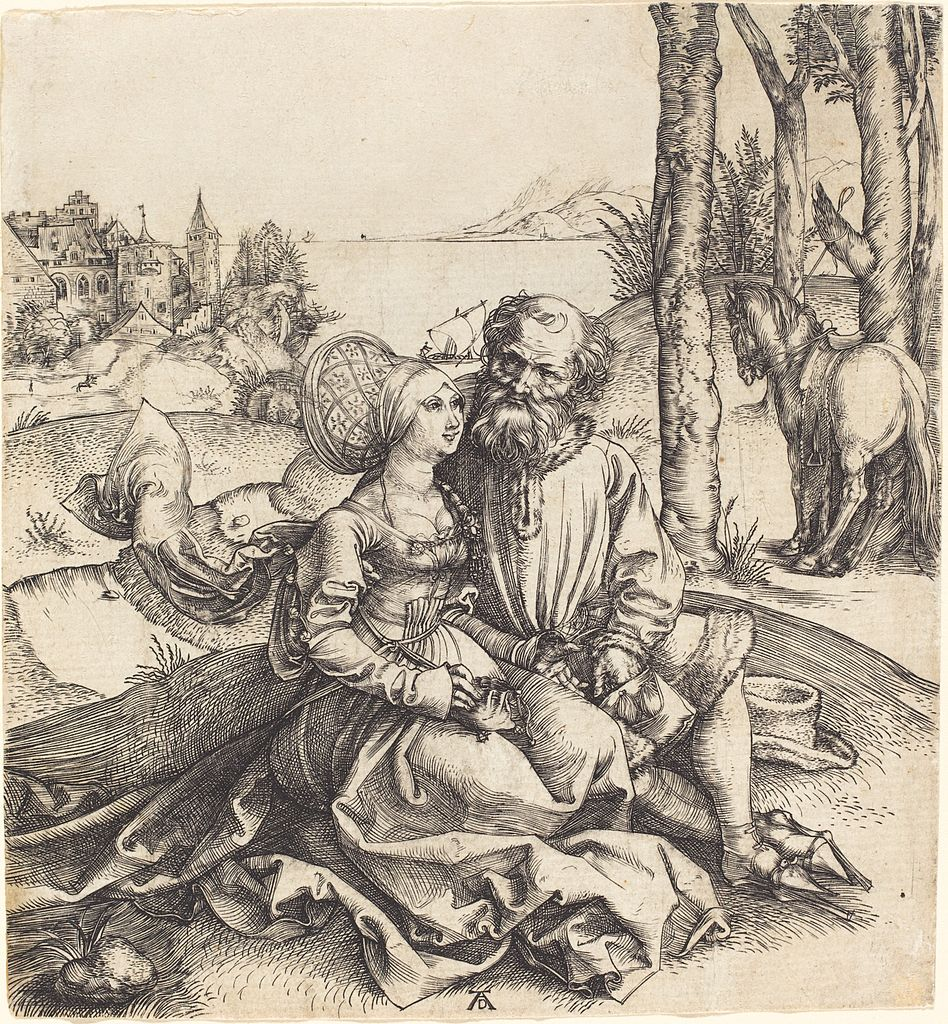 948px-Albrecht_Dürer_-_The_Ill-Assorted_Couple_(NGA_1943.3.3454)