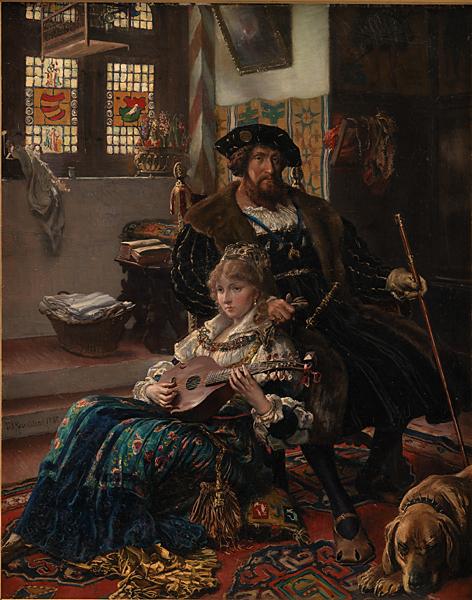 Vilhelm Rosenstand (1838-1915), Christian II og Dyveke, 1885