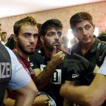 Migranter ankommer med fjernbusser til Tyskland