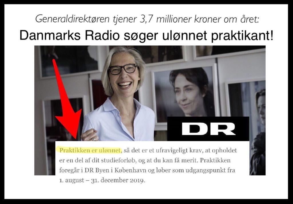 Gratis arbejdskraft i Danmarks Radio – Document