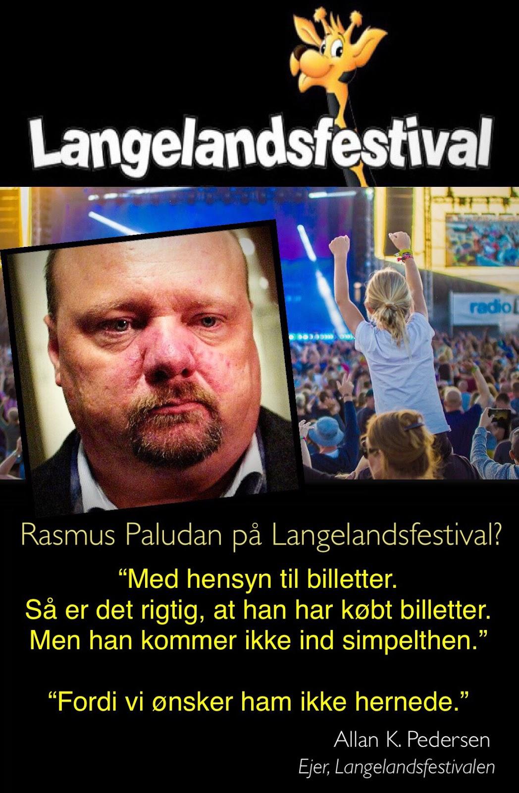 Langelandsfestival Naegter Rasmus Paludan Adgang Festivalen Far En