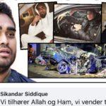 Dødsulykke: Sikandar Siddique lovpriser muslimer bag vanvidskørsel