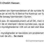 """Libaneser: """"… mit fly til Beirut fra Kastrup var fyldt med syrere der skulle besøg hjemlandet i Syrien"""""""