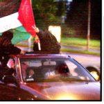 11. september 2001: En større gruppe muslimer kørte i kortege fra Vollsmose til Odense bymidte for at fejre terrorangrebet